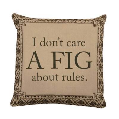 Downton Abbey A Fig Cotton Throw Pillow