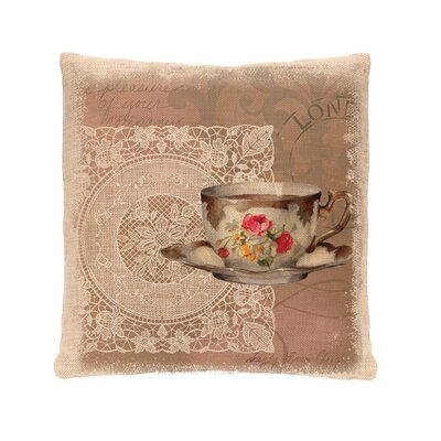 Downton Tea Postmark Pillow Cover