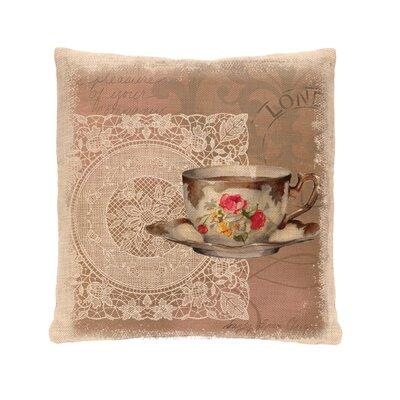 Downton Tea Postmark Pillow Cover