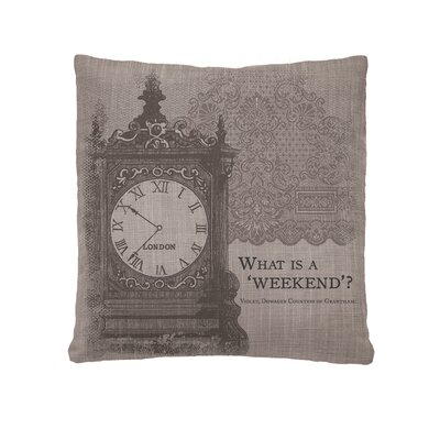 Downton Abbey Weekend Throw Pillow