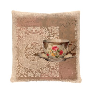 Downton Abbey Postmark Cotton Throw Pillow