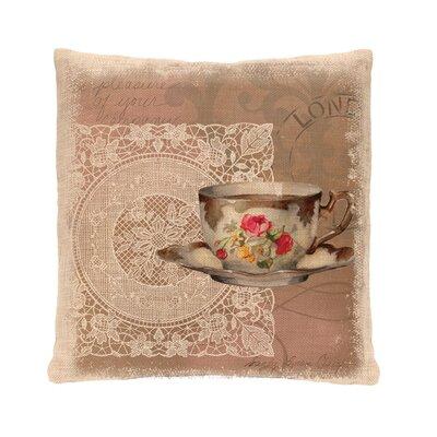 Downton Abbey Postmark Cotton Throw Pillow