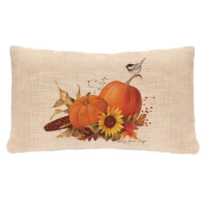 Harvest Pumpkin Lumbar Pillow