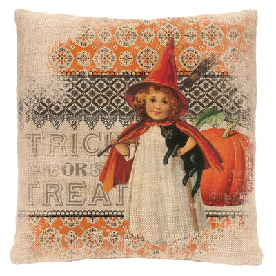 Victorian Halloween Throw Pillow