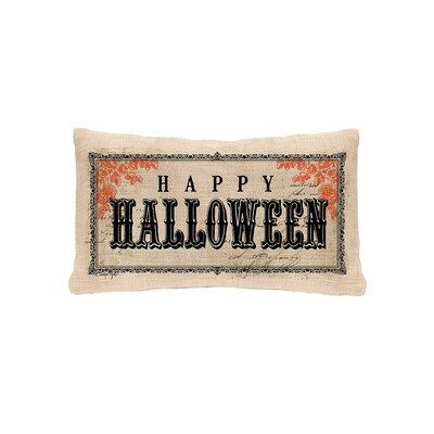 Vintage Halloween Lumbar Pillow Cover