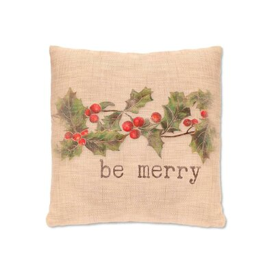 Holly be Merry   FabricThrow Pillow