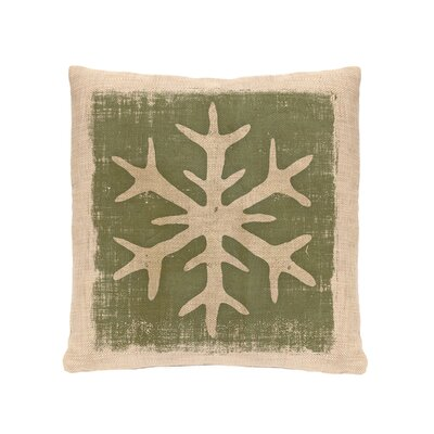 Rustic Snowflake Throw Pillow