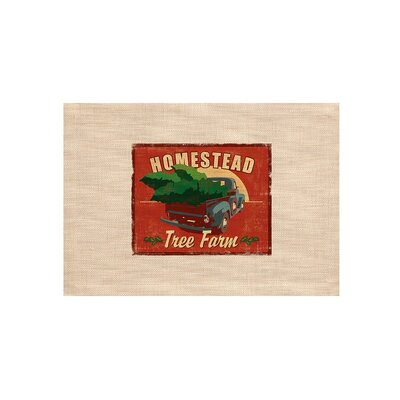 Signs of Christmas Homestead Placemat