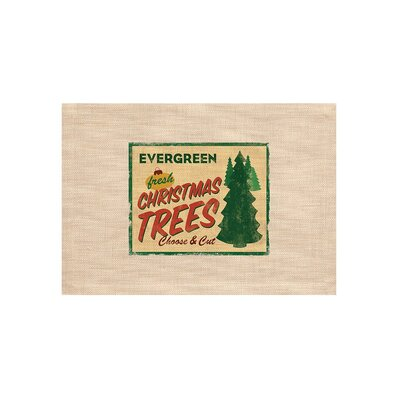Signs of Christmas Evergreen Placemat