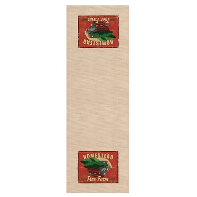 "Signs of Christmas Homestead Table Runner Size: 60"" W x 16"" D"