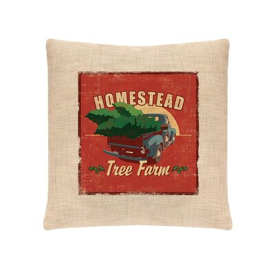 Signs of Christmas Homestead Polyester Pillow Cover