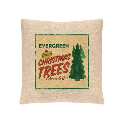 Signs of Christmas Evergreen  Throw Pillow