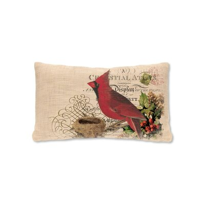 Winter Garden Cardinal Lumbar Pillow