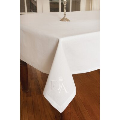 "Downton Abbey Tablecloth Size: 84"" H x 60"" W DN-6084W"