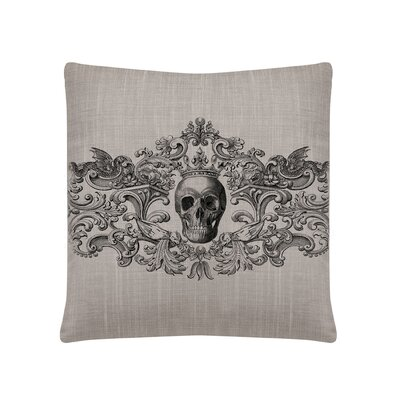 Gothic Square Pillow Cover Color: Gray