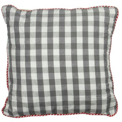 At Home Throw Pillow Cover Color: Natural Gray