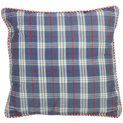 At Home Throw Pillow Cover Color: Natural Blue