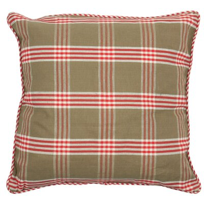 At Home Throw Pillow Cover Color: Natural Red