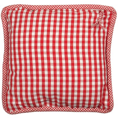 At Home Throw Pillow Cover Color: Livia Red