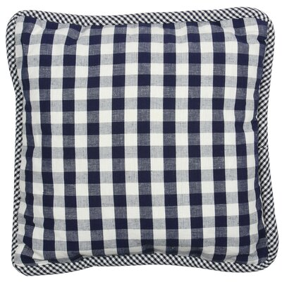 At Home Throw Pillow Cover Color: Livia Blue