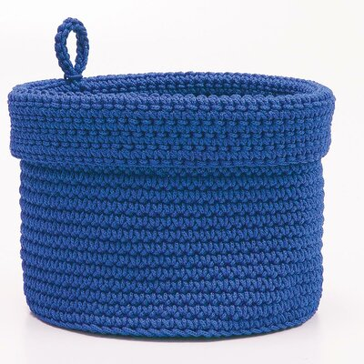 "Mod� Crochet Basket with Loop Color: Orange, Size: 10"" W x 10"" D MC-1040O"