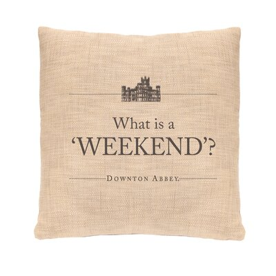Simply Stated Weekend Pillow Cover
