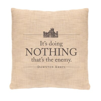 Simply Stated Nothing Pillow Cover