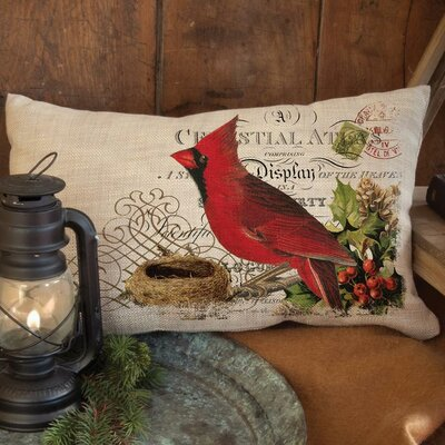 Winter Garden Cardinal Pillow Cover Size: 18 H x 18 W