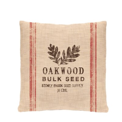 Seed Labels Oakwood Pillow Cover