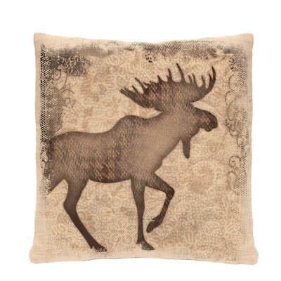 Alpine Woods Moose Pillow Cover