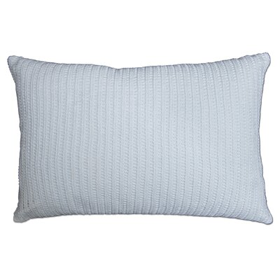 Burrell Crochet 100% Cotton Lumbar Pillow Color: White