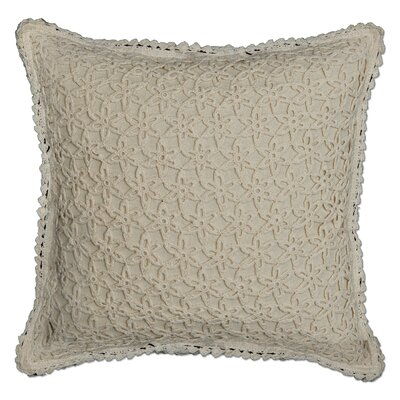 Charie Crochet Envy Pillow Cover Color: Natural