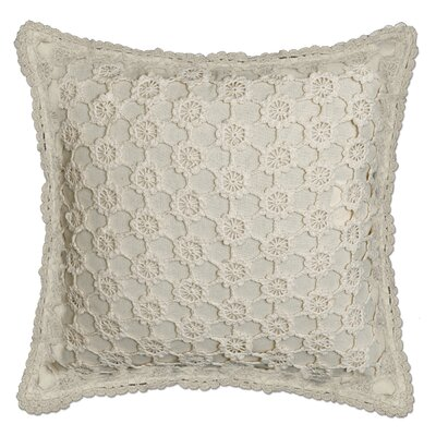 Atonvale Crochet 100% Cotton Throw Pillow Color: Natural