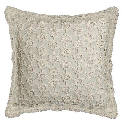 Atonvale Crochet 100% Cotton Throw Pillow Color: Natural