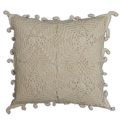 Athens Crochet 100% Cotton Throw Pillow Color: Natural