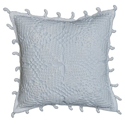 Charlesville Crochet Envy Pillow Cover Color: White