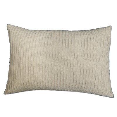 Burrell Crochet 100% Cotton Lumbar Pillow Color: Natural