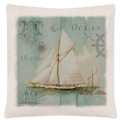 Ionie Coastal Collage Sailboat Pillow Cover