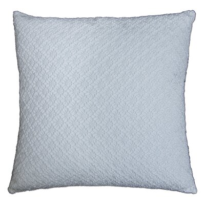 Whitakers Crochet 100% Cotton Throw Pillow Color: White