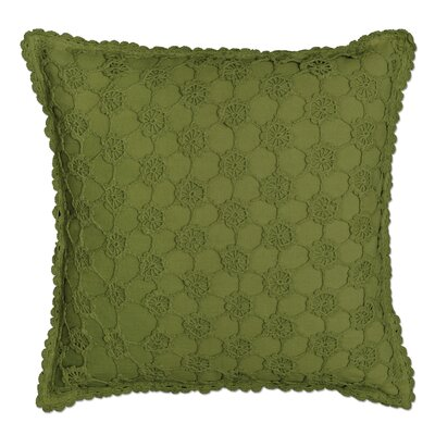 Atonvale Crochet 100% Cotton Throw Pillow Color: Fern