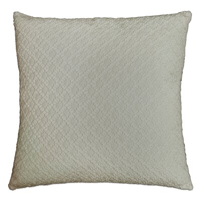 Whitakers Crochet 100% Cotton Throw Pillow Color: Natural