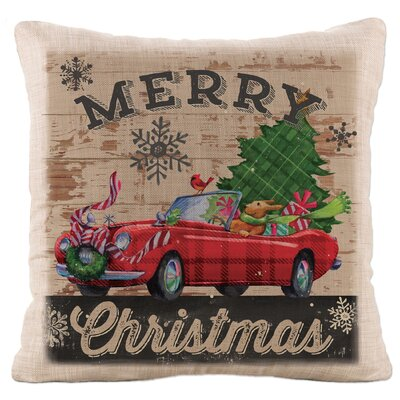 Christmas Plaid Car Pillow Cover
