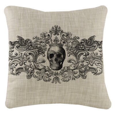 Gothic Square Pillow Cover Color: Natural