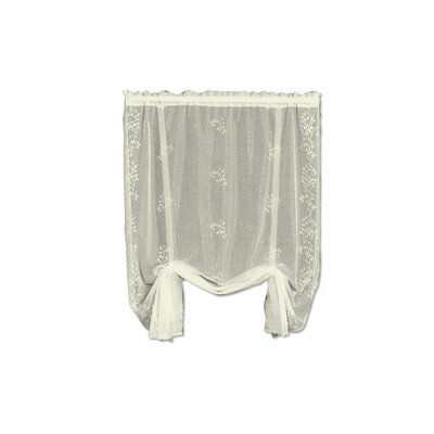 Charleville Sheer Divine Tie-Up Shade Color: Ecru