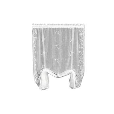 Charleville Sheer Divine Tie-Up Shade Color: White