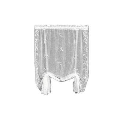 Charleville Sheer Divine Tie-Up Shade Color: White