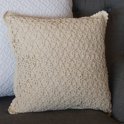 Chaney Crochet Envy Pillow Cover Color: Natural
