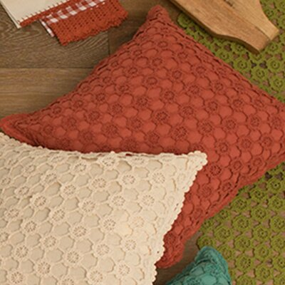 Chadford Crochet Envy Pillow Cover Color: Ginger Spice