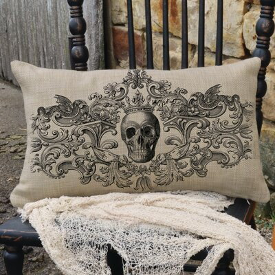 Gothic Pillow Cover Color: Natural