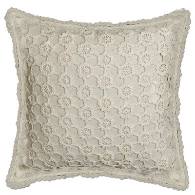 Chadford Crochet Envy Pillow Cover Color: Natural